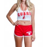 Womens Lifeguard Crop Top Outfit