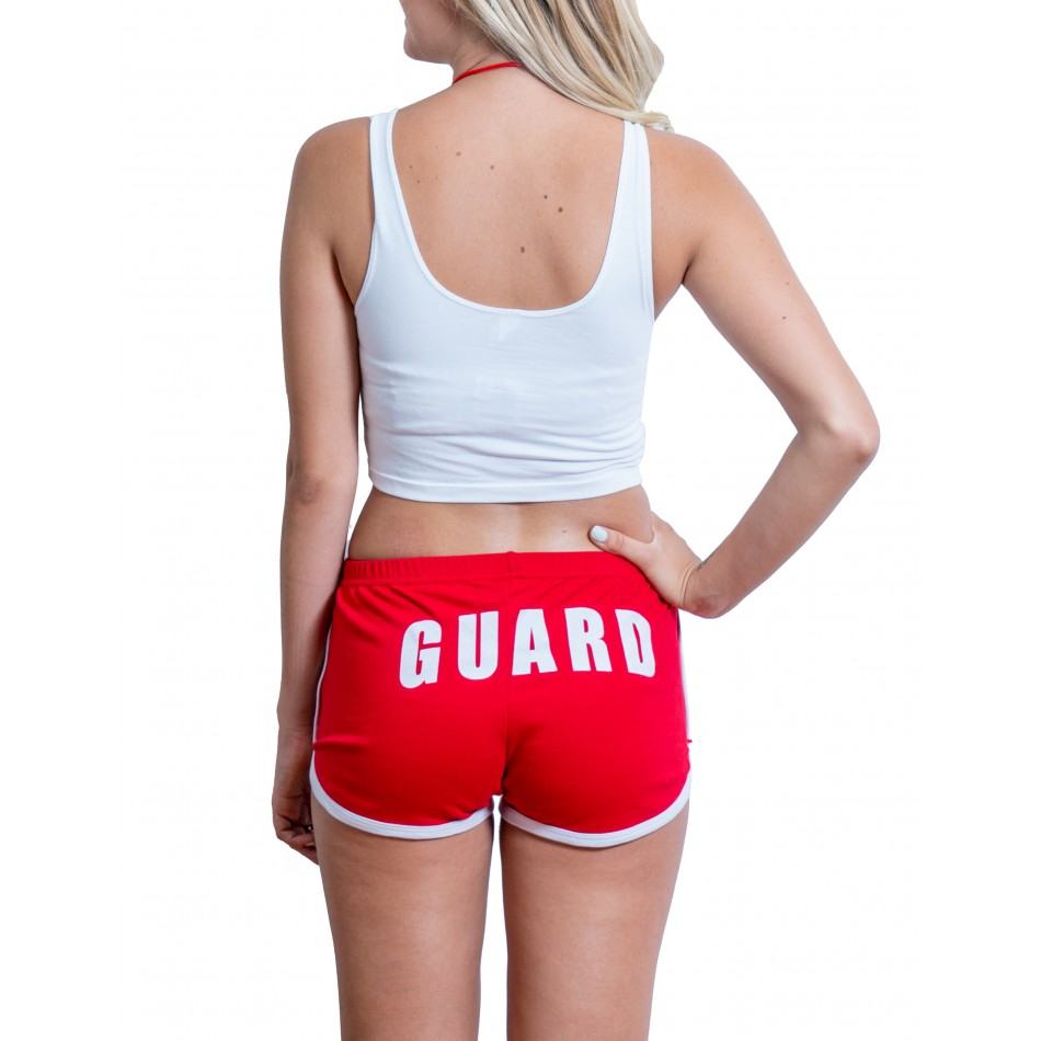 fe93887992f5 White Womens Lifeguard Crop Top Outfit