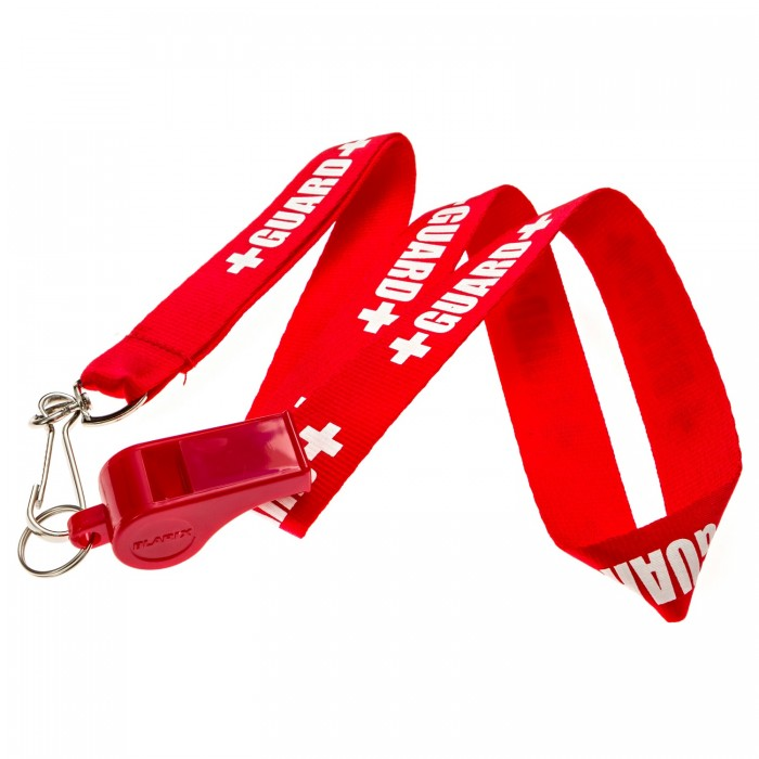 Lifeguard Pea Whistle + Lanyard w/Print