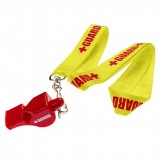 Lifeguard Whistle + Lanyard w/Print
