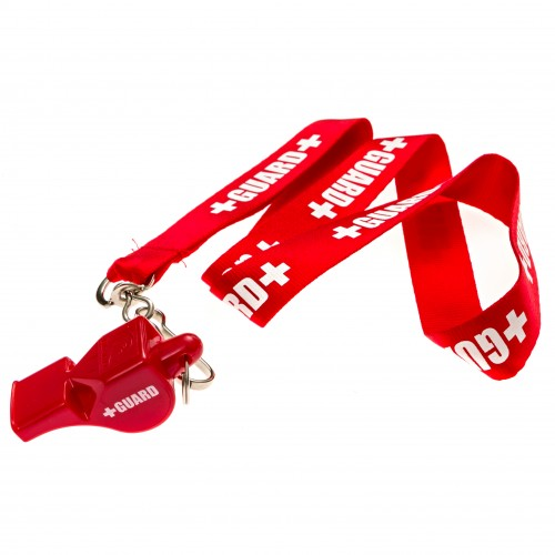Lifeguard Whistle + Lanyard w/Print