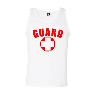 White Lifeguard Tank Top