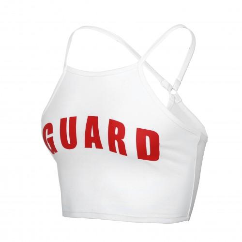 Lifeguard Spaghetti Strap Crop Top