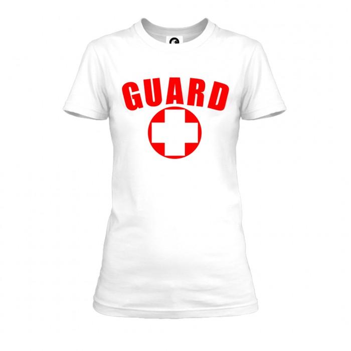 White Womens Lifeguard T-Shirt