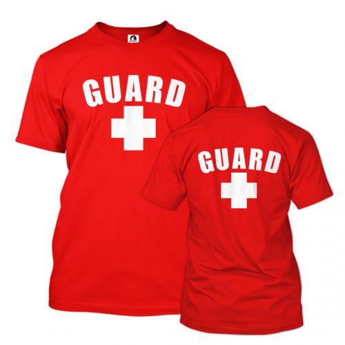 Red Lifeguard T-Shirt w/Back Logo