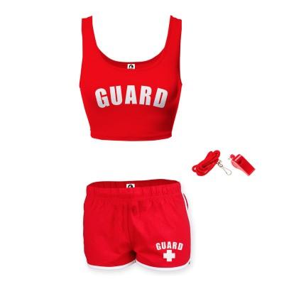 Womens Lifeguard Crop Top Outfit