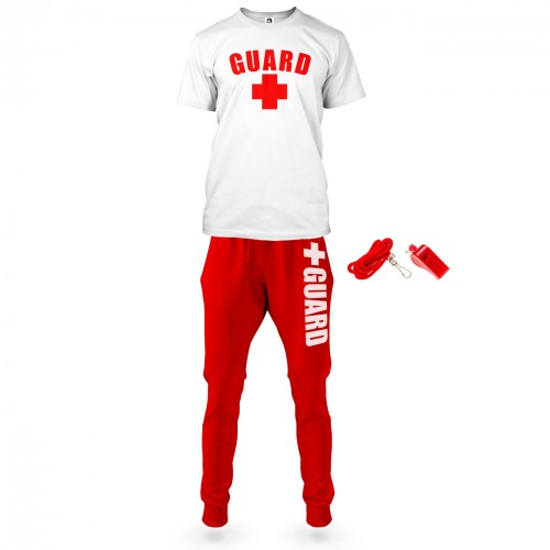 Mens Lifeguard T-Shirt and Joggers Outfit