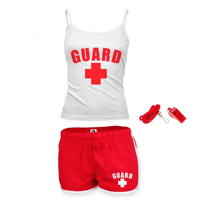 Womens Lifeguard Spaghetti Strap Outfit
