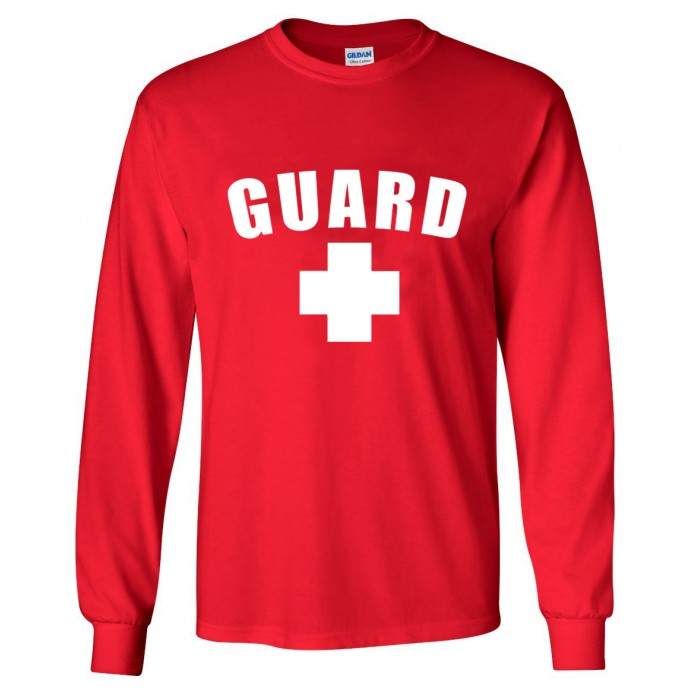 Red Lifeguard Long Sleeve Shirt