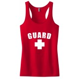 Red Womens Lifeguard Racerback Tank Top