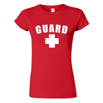 Red Womens Lifeguard T-Shirt