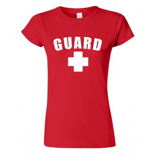 Red Womens Lifeguard T-Shirt