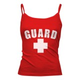Womens Lifeguard Spaghetti Strap Tank Top
