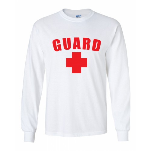 White Lifeguard Long Sleeve Shirt