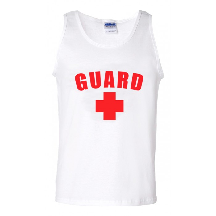 White Lifeguard Tank Top