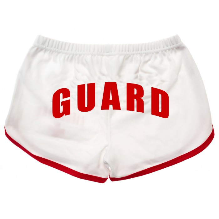 White Womens Lifeguard Shorts