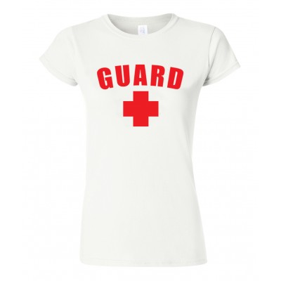 White Womens Lifeguard T-Shirt