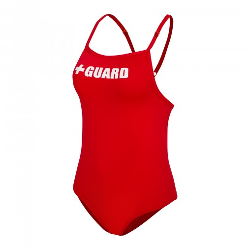 Lifeguard Swimsuit Adjustable Thin Straps 1pc with Cups