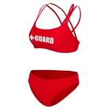 Lifeguard Swimsuit Double Cross Strap 2pc