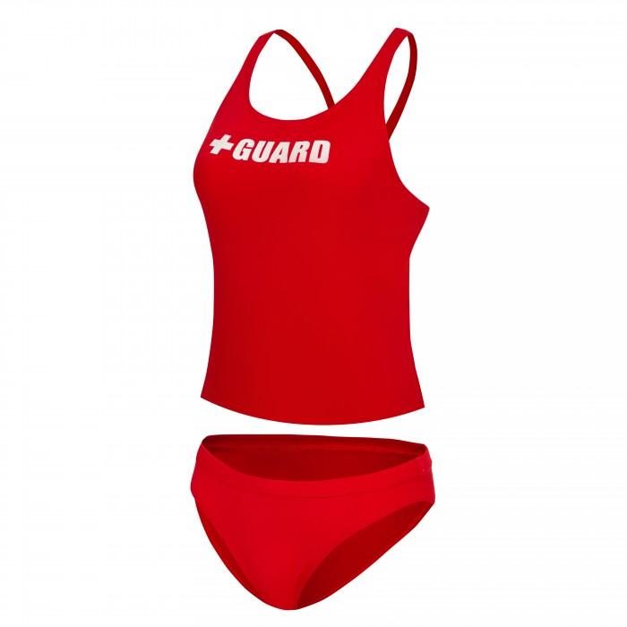 Lifeguard Tankini Swimsuit 2pc