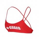 Lifeguard Cross Back Swimsuit Top Lycra