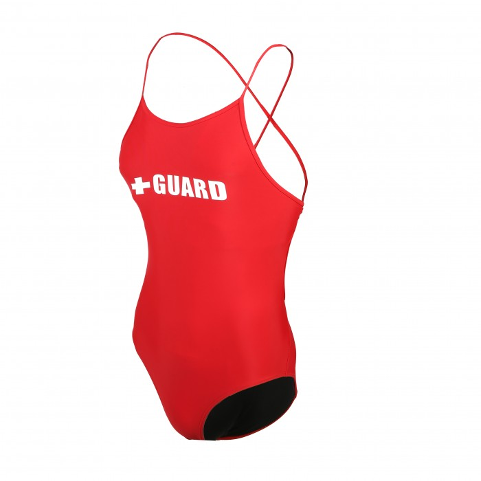 Lifeguard Tie Back Swimsuit 1pc Lycra