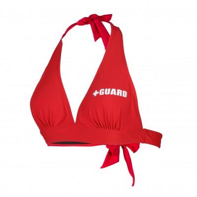 Lifeguard Tie Halter Swimsuit Top Lycra