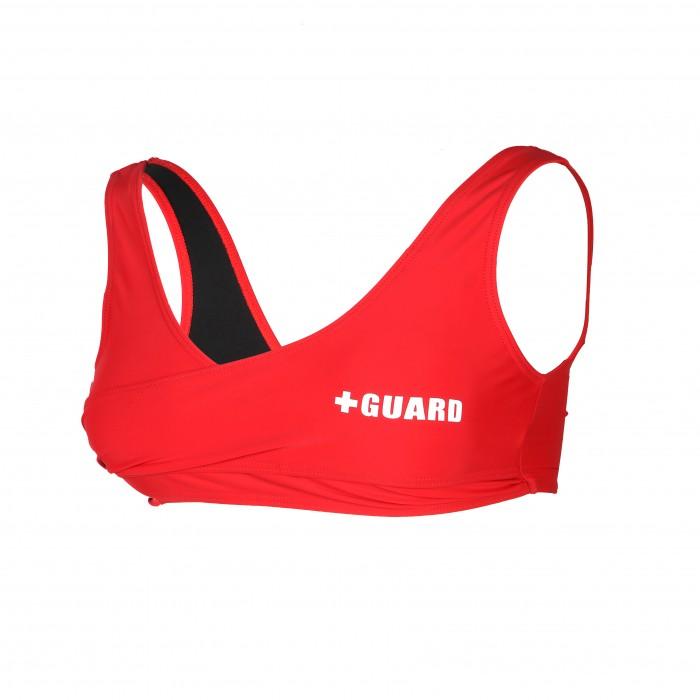 Lifeguard Wrap Swimsuit Top Lycra