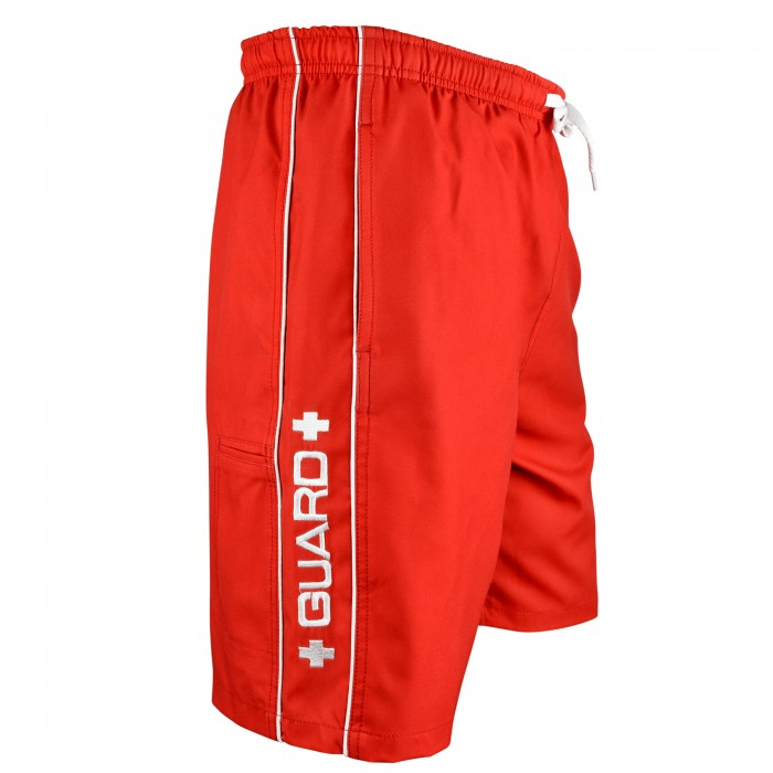 Lifeguard Piped Swim Trunks